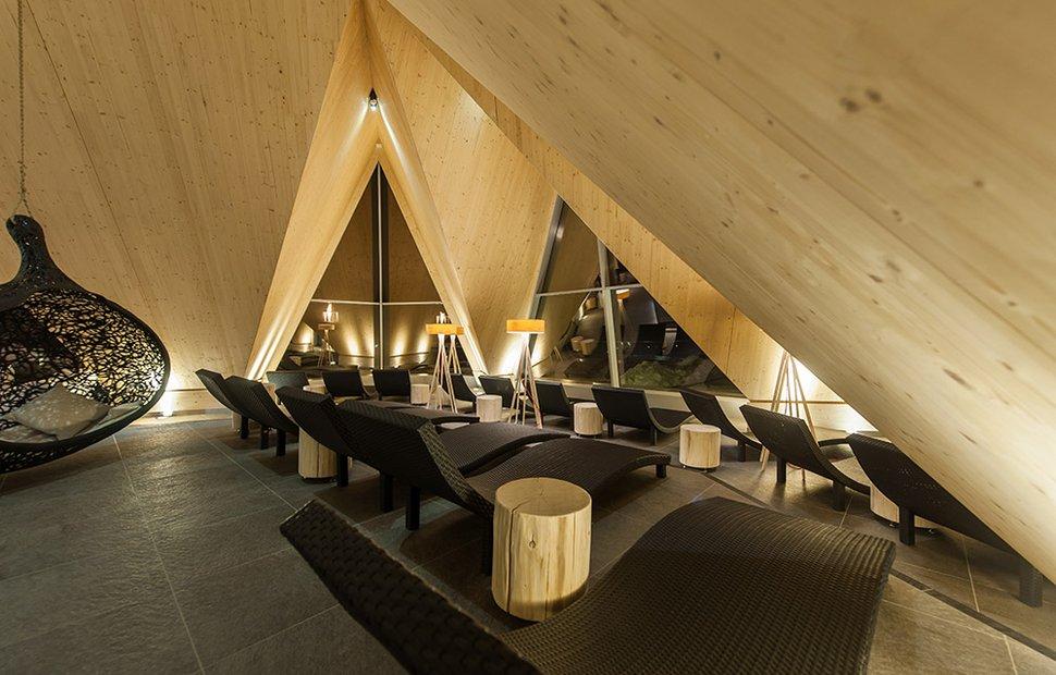 Relaxbereiche im Aqua Dome